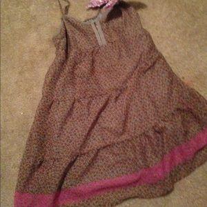 Shabby Chic Boho Floral Print Dress